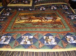 Western Bedding Western Horse Quilt Western Bedding Cabin Quilt