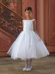 where to buy communion dresses wholesale cheap 2014 fetching straps applique tea length organza