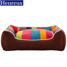 heureux warm dog bed cover thick colorful stripe dog house for