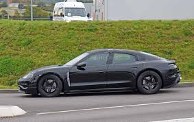 electric porsche porsche mission e electric sedan photographed for the first time