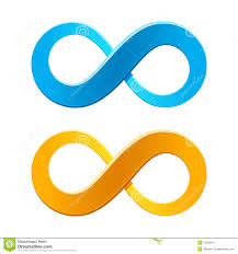 infinity number infinity symbol stock vector image of eternity blue 16033811