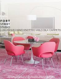 fort street studio u0027s mata hari custom pink rug advertisement as