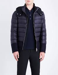 moncler riom quilted shell jacket in blue for men lyst