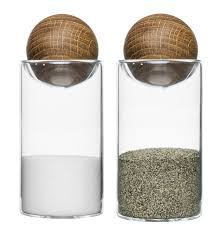 sagaform 5017178 salt and pepper shakers 2 units oak and glass ebay