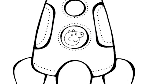 peppa pig flies into space coloring book coloring pages kids fun