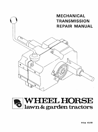 wheelhorse manual transmissions service manual gear axle