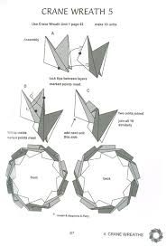 origami wreaths and rings and crane wreath origami modular
