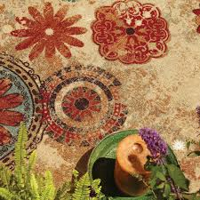mohawk home alexa medallion indoor outdoor rug hayneedle
