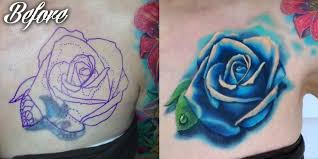 beautiful blue rose tattoo image