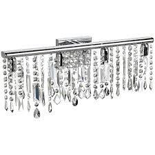 Endearing Crystal Bathroom Lighting S Modern Chrome Crystal Mirror Chrome Bathroom Light Fixtures