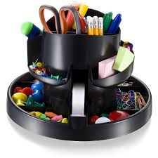 Revolving Desk Organizer by Officemate Deluxe Rotary Organizer 16 Compartments Recycled