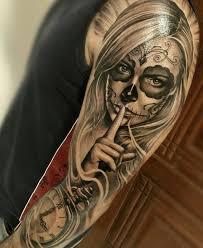 the 25 best day of dead tattoo ideas on pinterest arm tattoos
