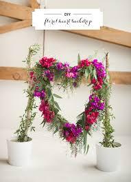 Wedding Backdrop Diy Diy Heart Floral Backdrop Diy Wedding Decor 100 Layer Cake
