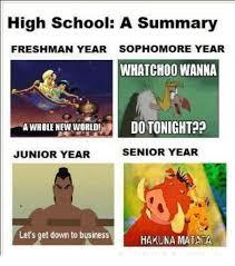 Highschool Memes - high school a summary freshman year sophomore year whatcho0 wanna a