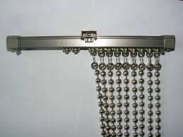 Chain Room Dividers - shimmering metal ball chain screen metal bead curtain room divider