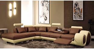 canapé marron cuir deco in canape d angle cuir marron et beige position relax