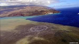 canary island volcano a new island in the making bbc news