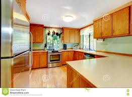 bright kitchen cabinets bright kitchen with light brown cabinets and wooden counter tops
