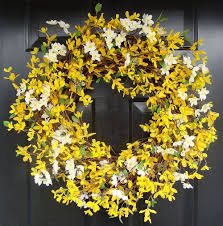 spring wreath 20 inch yellow forsythia wreath year round home