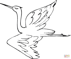 crane bird coloring page kids drawing and coloring pages marisa