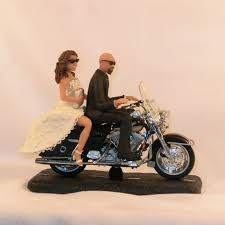 motorcycle wedding cake toppers bald groom motorcycle wedding cake topper melitafiore