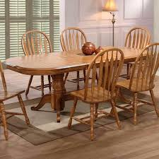 oak dining room table double pedestal u2022 dining room tables design