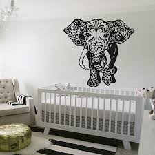 Elephant Bedroom Decor Aliexpress Com Buy Removable Wall Stickers Elephant Wall Decal