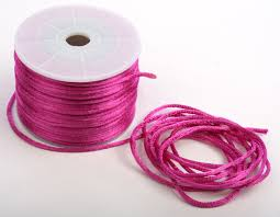 fuchsia satin rattail cord jewelry wire and cords jewelry