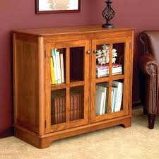 Cherry Wood Bookcase With Doors Wood Bookcase With Glass Doors Bullishness Info