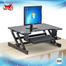 modern standing desk portable wooden desktop table folding adjustable laptop riser