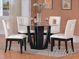 bethany 5 piece espresso finish dining table set by acme 10030