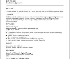unbelievable design physical therapy resume examples 16 home
