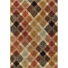 Checkered Area Rug Shop Orian Rugs Checkered Path Indoor Novelty Area Rug Common 5