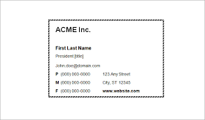 free business cards templates for word blank business card