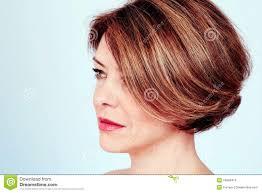 woman with stylish haircut stock photo image 54906419
