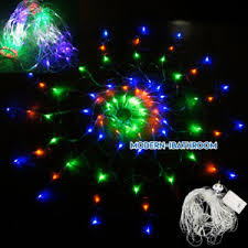 rgb 120 led fairy net mesh outside xmas party web window celling
