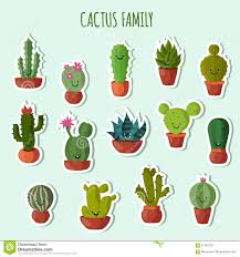 Cute Plant by Funny Plants Vector Collection Cute Cactus With Happy Faces
