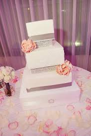 weddings for dummies pink silver white square wedding cakes photos pictures