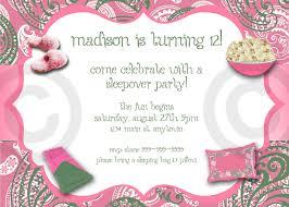 paisley slumber party invitation printable invite