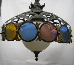 vintage stained glass light fixture all about lamps ideas
