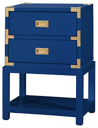 rex hollywood regency white gold campaign nightstand