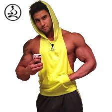 zyzz bodybuilding stringer hoodies men gym stringer hoodie fitness