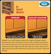 inset cabinet door stops georgia hardwoods inc fastcap euro door stop