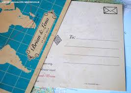 postcard wedding invitations vintage map wedding invites wedfest