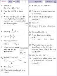 mental maths worksheets for class 4 first grade mental math