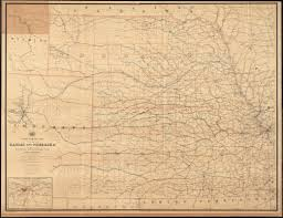 Map Of Nebraska And Colorado by Post Route Map Of The States Of Kansas And Nebraska With Adjacent