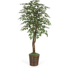 six foot green faux ficus tree free shipping today overstock