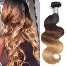 ombre weave 3pc t1b 4 27 ombre hair weave bundles wave 3 tone black brown