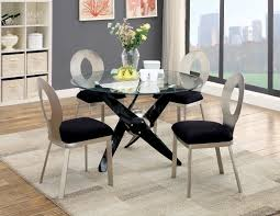metal top round dining table aero cm3169t round dining table w glass top metal frame