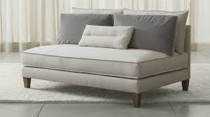 Narrow Sofa Bed The Best Sofas For Small Spaces Crates Barrels And Small Spaces